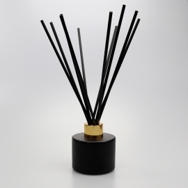 Matte Black Circular 100ml Reed Diffuser Glass