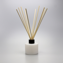 Matte White Circular 100ml Reed Diffuser Glass
