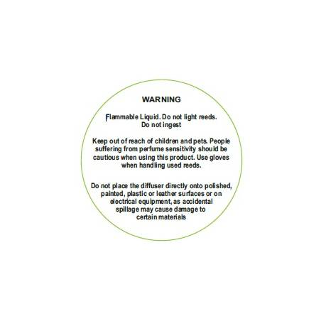 Reed Diffuser Warning Label