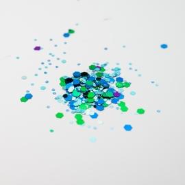 Chunky Blue Glitter