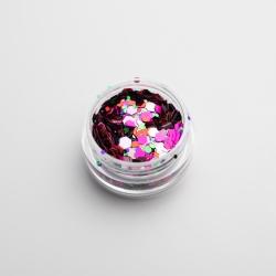 Chunky Mixed Pink Glitter
