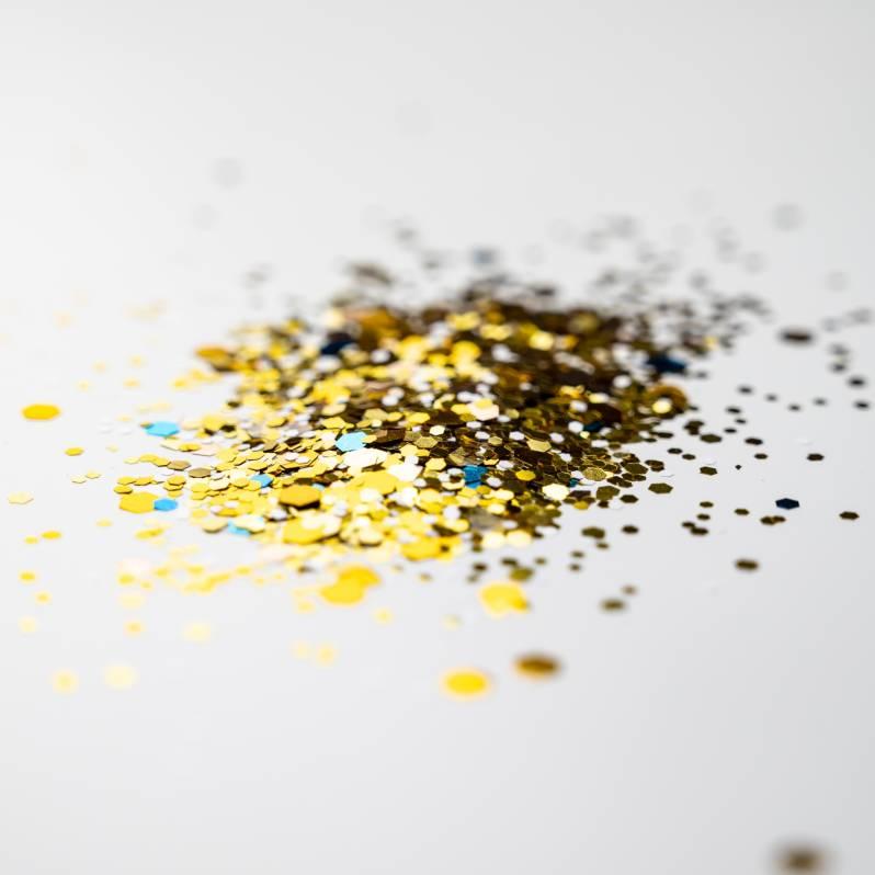 Chunky Autumn Gold Glitter (2 gram pot)