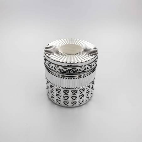40cl Diamond Candle Glass: Silver