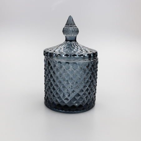 Small 30cl Geo Candle Glass Black Tint