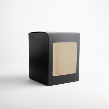 20cl Black Candle Box With Window