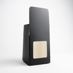 30cl Black Candle Box With Window
