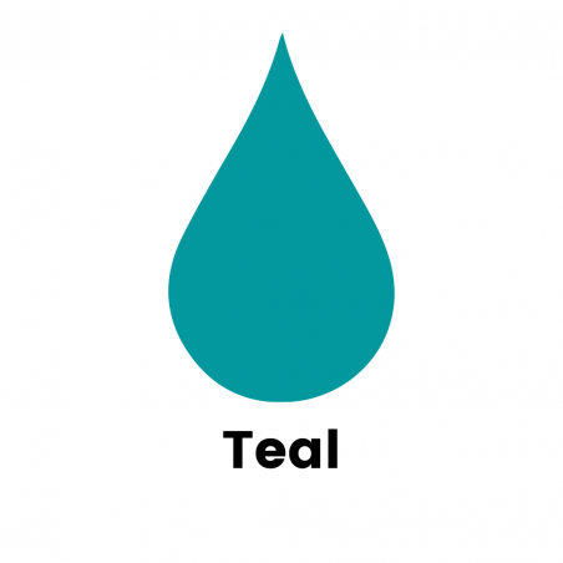 Teal Liquid Dye