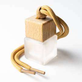 Frosted Hanging Car Diffuser with Wooden Lid