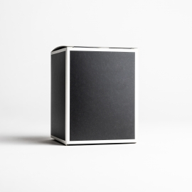 20cl Black Candle Box With White Rim