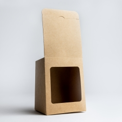 20cl Kraft Candle Box With Window
