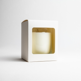 20cl White Candle Box With Window