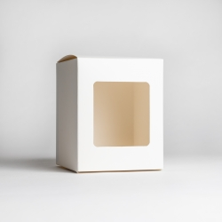 30cl White Candle Box With Window