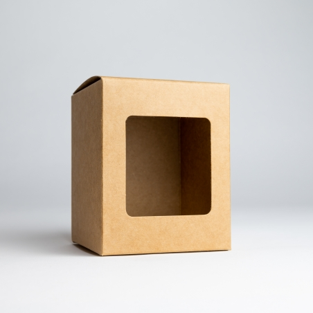 30cl Kraft Candle Box With Window