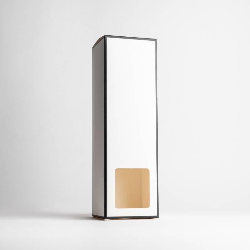 White Reed Diffuser Box With Black Rim