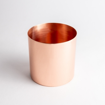 Copper Shiny Metal Candle Container