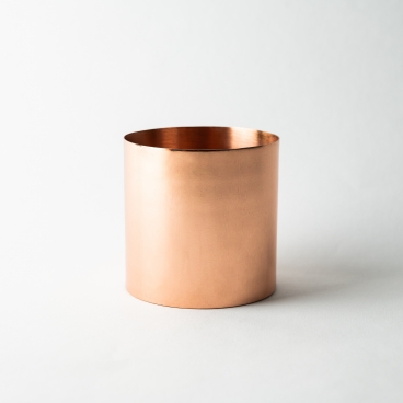 Copper Shiny Metal Candle Container - Box of 6