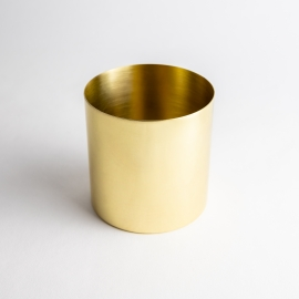 Gold Shiny Metal Candle Container - Box of 6