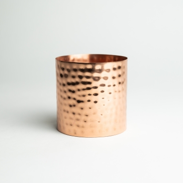 Copper Hammered Metal Candle Container - Box of 6