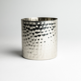 Silver Hammered Metal Candle Container - Box of 6