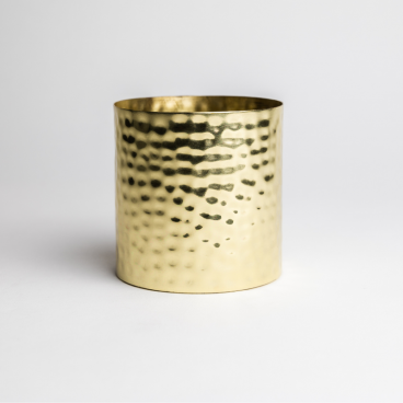Gold Hammered Metal Candle Container - Box of 6