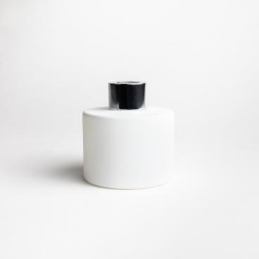 Matte White Circular 100ml Reed Diffuser Glass