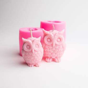 Silicone Owl Candle Moulds