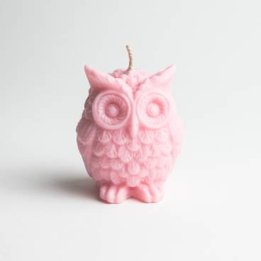 Large Silicone Owl Candle Mould