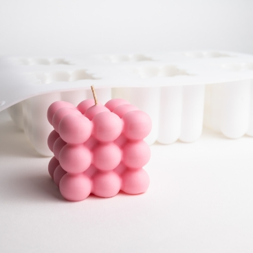 Silicone Large Bubble Candle Mould - Tray of 6