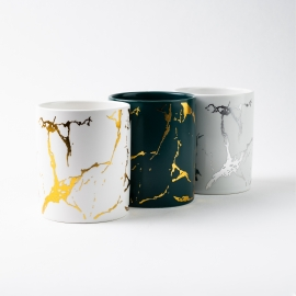Marble Ceramic Candle Container 30cl - Box of 6