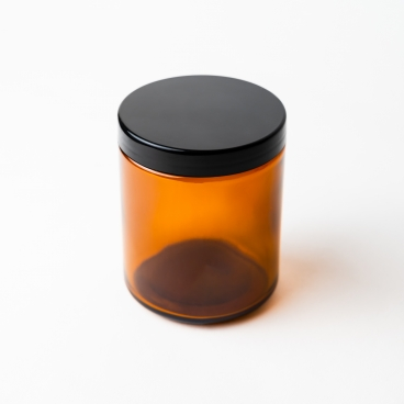 Amber Glass Jar With Lid 20cl - Box of 12