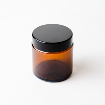 Amber Glass Jar With Lid 10cl - Box of 12