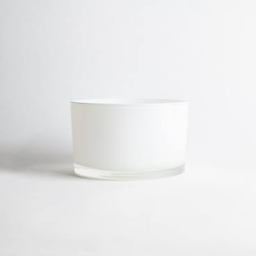 Gloss White Candle Glass
