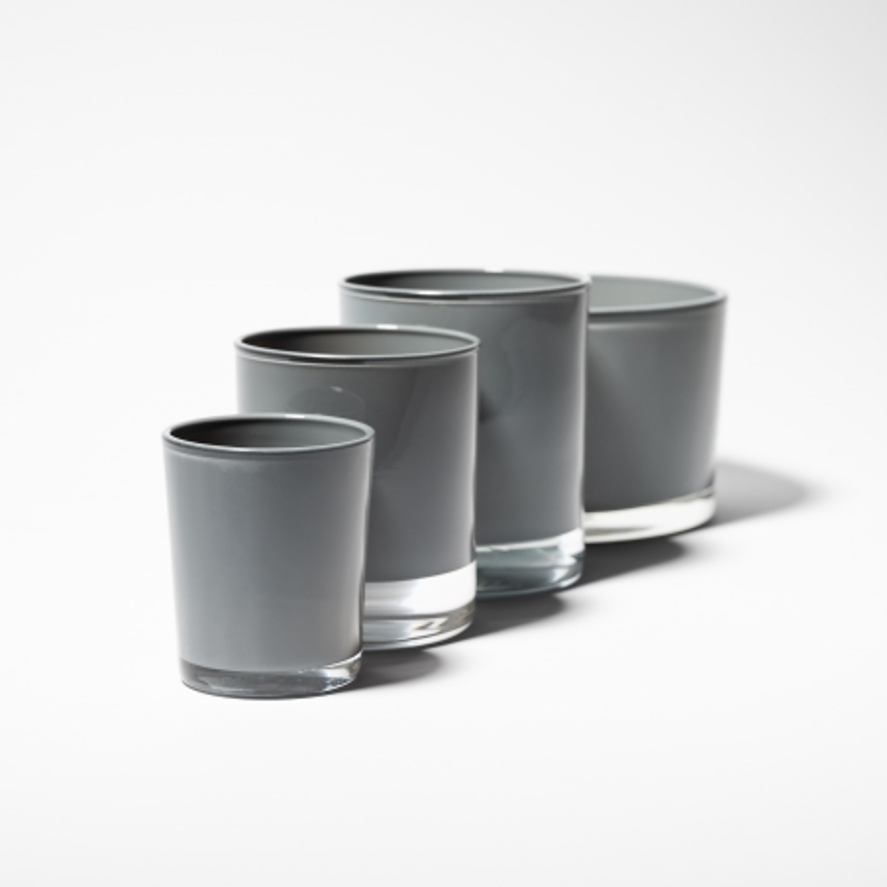 Gloss Grey Candle Glass