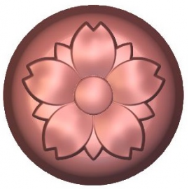 Four Flowers Soap Mould
