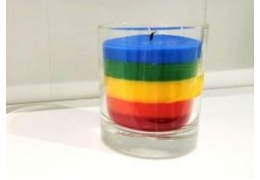 Looking up for inspiration: How to make a rainbow candle